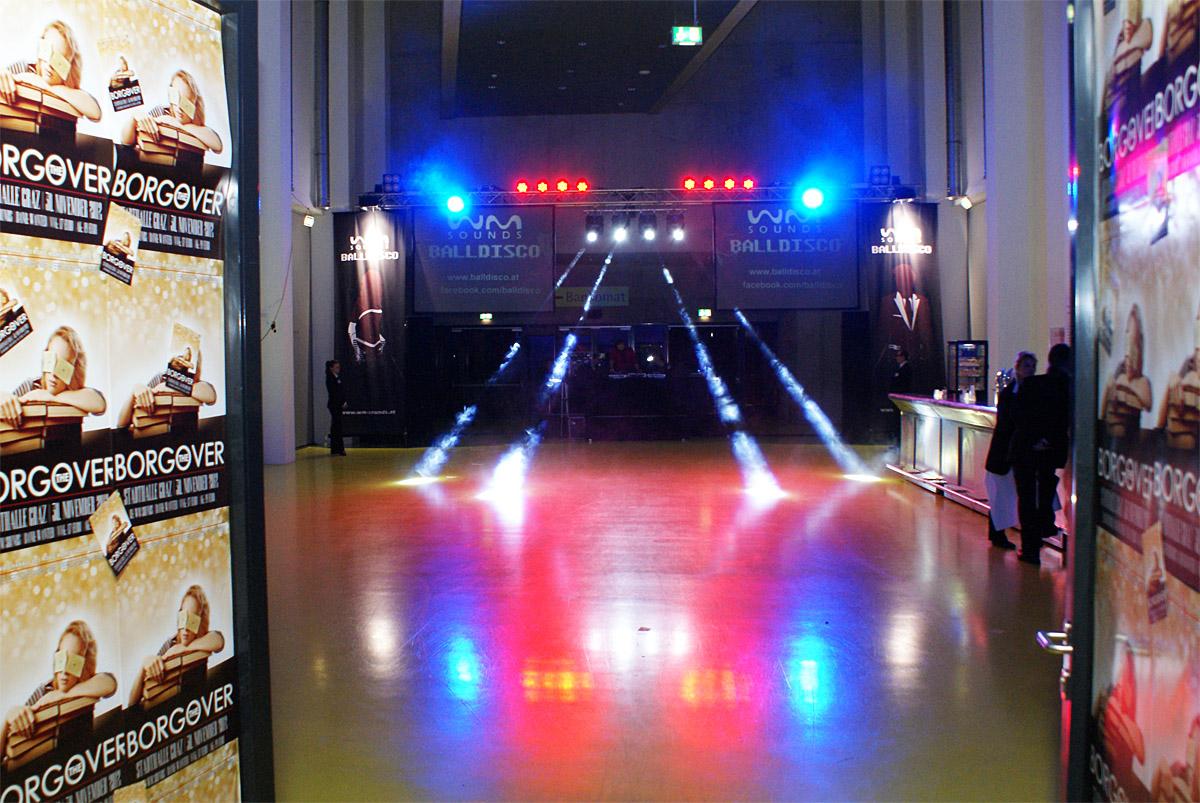 Aufbau | BALLDISCO Stadthalle Graz
