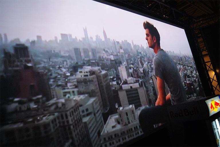 Unsere 4 m breite 21:9 Video-Wall mit HD Auflösung